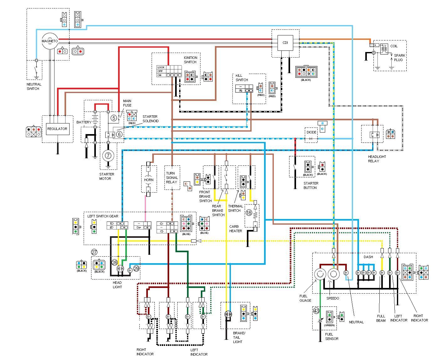 Схема проводов детского электромобиля
